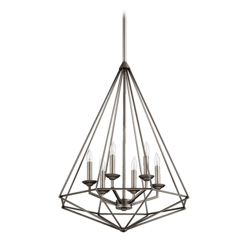 Quorum Lighting Quorum Lighting Bennett Antique Silver Pendant Light 8311-6-92