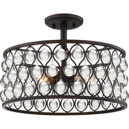 Quoizel Lighting Quoizel Lighting Alexandria Palladian Bronze Semi-Flushmount Light AX1716PN