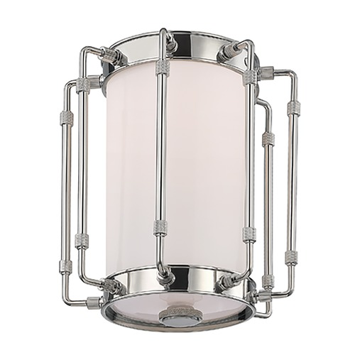 Hudson Valley Lighting Hudson Valley Lighting Hyde Park Polished Nickel LED Flushmount Light 9709-PN