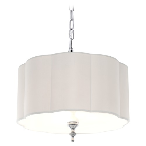 Matteo Lighting Matteo Lighting Deroga Affair Chrome Pendant Light with Scalloped Shade C45103CH