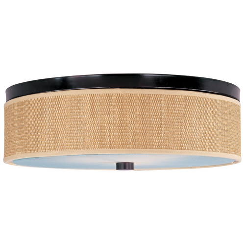 ET2 Lighting Modern Flushmount Light with Brown Tones Shades in Oil Rubbed Bronze Finish E95004-101OI