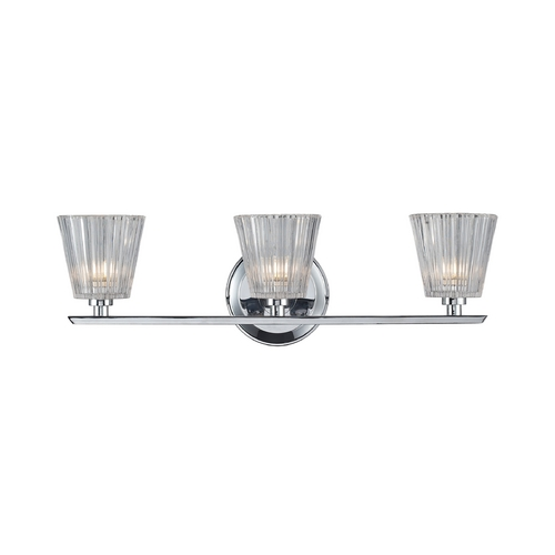 Elk Lighting Bathroom Light with Clear Glass in Polished Chrome Finish 31164/3