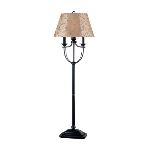 Kenroy Home Lighting Floor Lamp with Taupe Shade in Bronze Finish 31366ORB