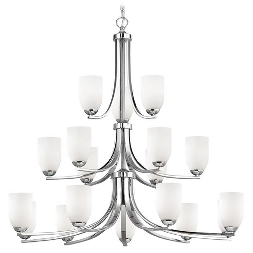 Design Classics Lighting Chrome Chandelier 5863-26 GL1028D