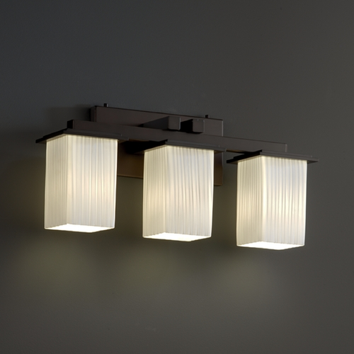 Justice Design Group Justice Design Group Fusion Collection Bathroom Light FSN-8673-15-RBON-DBRZ