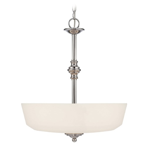 Savoy House Savoy House Polished Chrome Pendant Light with Bowl / Dome Shade 7-6839-3-11