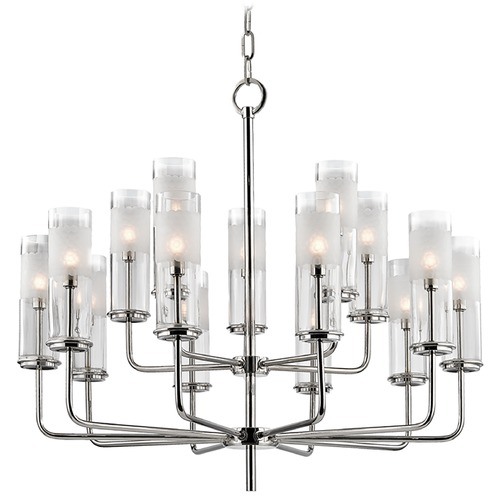 Hudson Valley Lighting Mid-Century Modern Chandelier Polished Nickel Wentworth by Hudson Valley Lighting 3930-PN