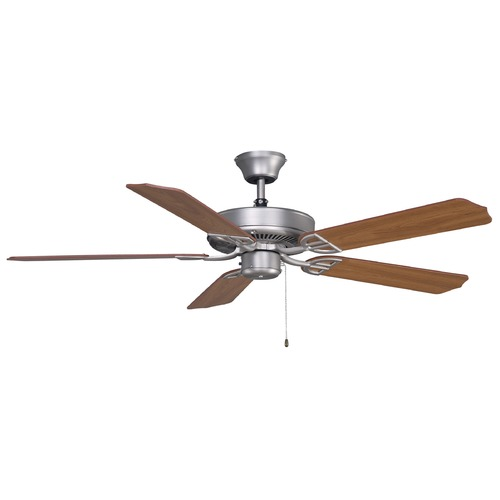 Fanimation Fans Fanimation Fans Aire Decor Satin Nickel Ceiling Fan Without Light BP200SN1