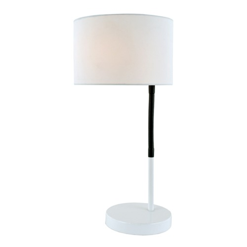Lite Source Lighting Lite Source Gillian White Table Lamp with Drum Shade LS-22623