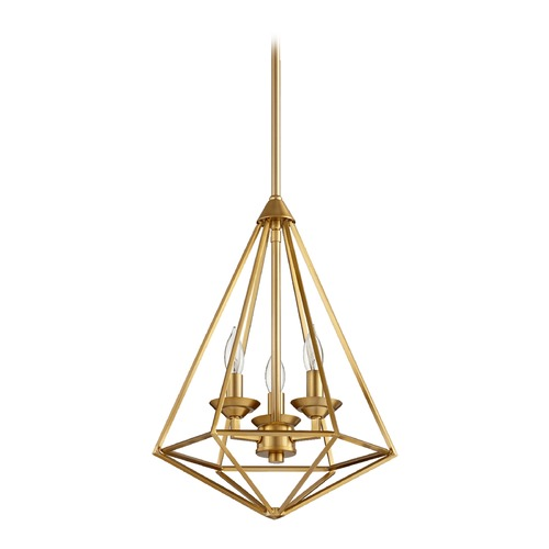 Quorum Lighting Quorum Lighting Bennett Aged Brass Pendant Light 8311-8-80