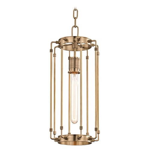 Hudson Valley Lighting Hudson Valley Lighting Hyde Park Aged Brass Mini-Pendant Light 9710-AGB