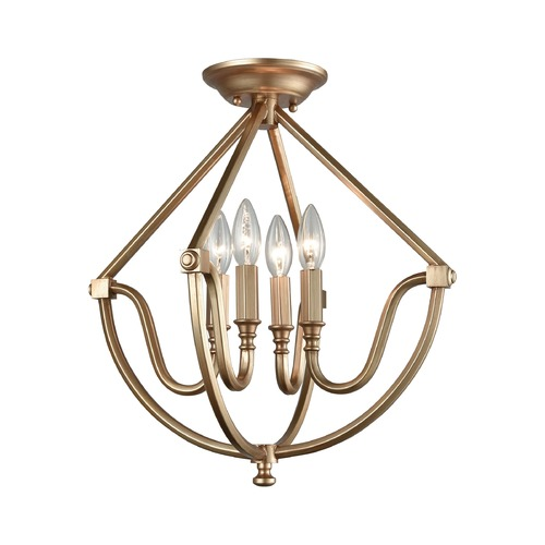 Elk Lighting Elk Lighting Stanton Matte Gold Semi-Flushmount Light 12841/4