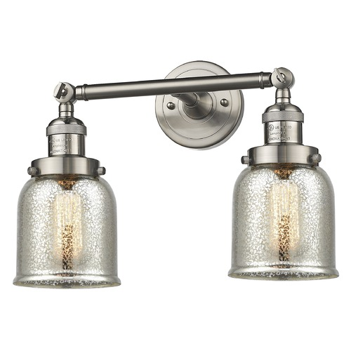 Innovations Lighting Innovations Lighting Small Bell Brushed Satin Nickel Bathroom Light 208-SN-G58