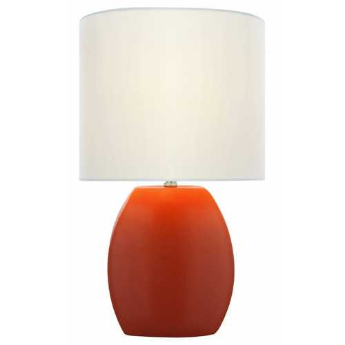 Lite Source Lighting Lite Source Lighting Reiko Orange Table Lamp with Oval Shade LS-21506ORN