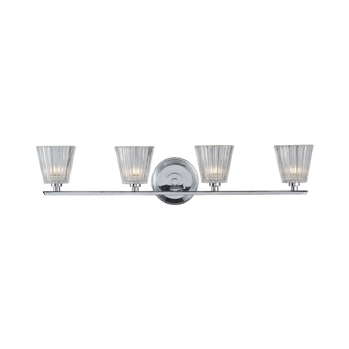 Elk Lighting Bathroom Light with Clear Glass in Polished Chrome Finish 31165/4