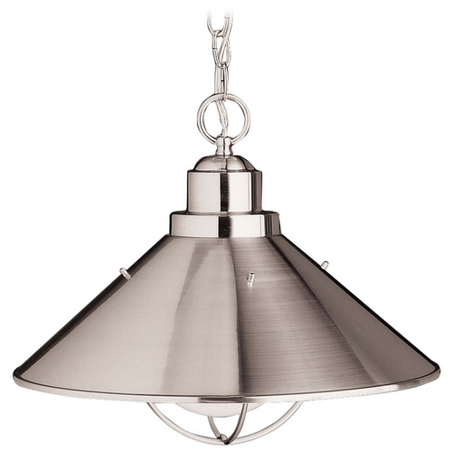 Kichler Lighting Kichler Nautical Pendant Light in Brushed Nickel Finish 2713NI