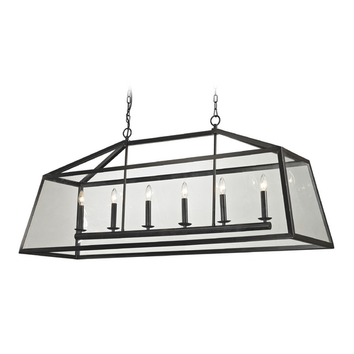 Elk Lighting Island Light with Clear Glass in Oil Rubbed Bronze Finish 31509/6