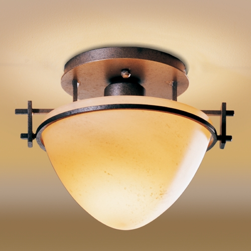 Hubbardton Forge Lighting Hubbardton Forge Lighting Moonband Natural Iron Semi-Flushmount Light 124247-20H80