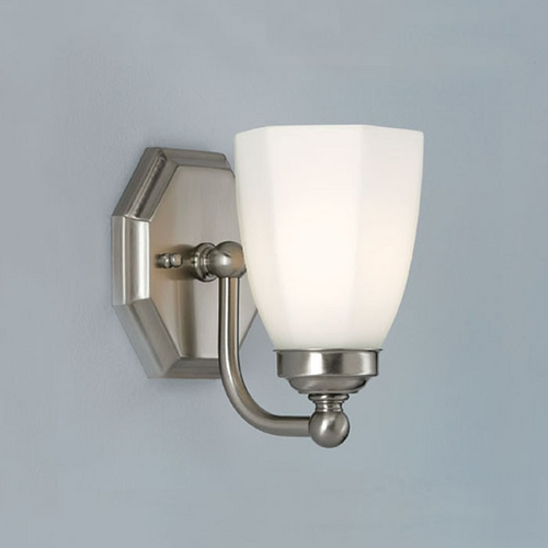 Norwell Lighting Norwell Lighting Trevi Brush Nickel Sconce 8318-BN-HXO