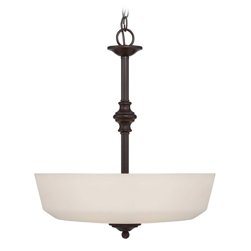 Savoy House Savoy House English Bronze Pendant Light with Bowl / Dome Shade 7-6839-3-13