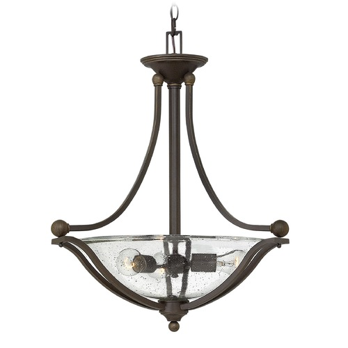 Hinkley Lighting Hinkley Lighting Bolla Olde Bronze Pendant Light with Bowl / Dome Shade 4652OB-CL