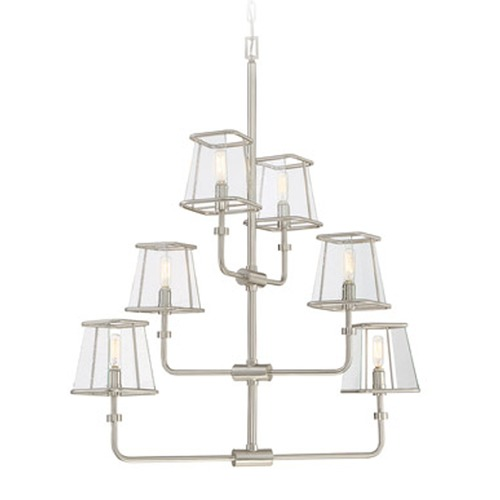 Savoy House Savoy House Lighting Damascus Satin Nickel Chandelier 1-651-6-SN