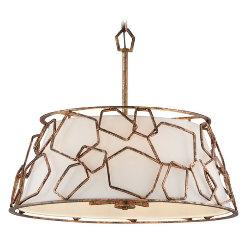 Troy Lighting Troy Lighting Coda Antique Copper Leaf Pendant Light with Empire Shade F5465