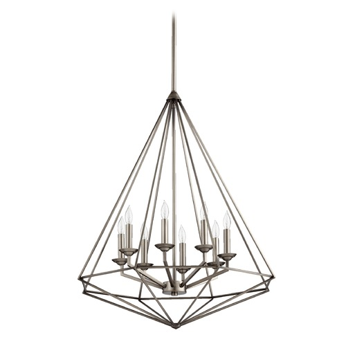 Quorum Lighting Quorum Lighting Bennett Antique Silver Pendant Light 8311-8-92