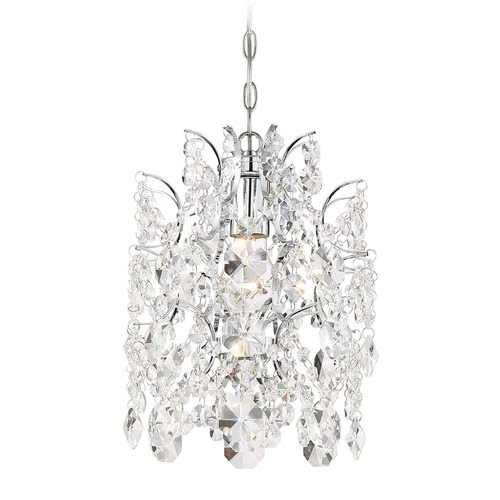 Minka Lavery Minka Lavery Isabella's Crown Chrome Pendant Light with Cylindrical Shade 3155-77