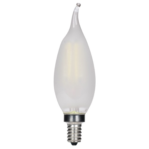 Satco Lighting Satco 4.5 Watt CA11 LED Frosted Candelabra Base 3000K 350 Lumens 120 Volt Dimmable S11377