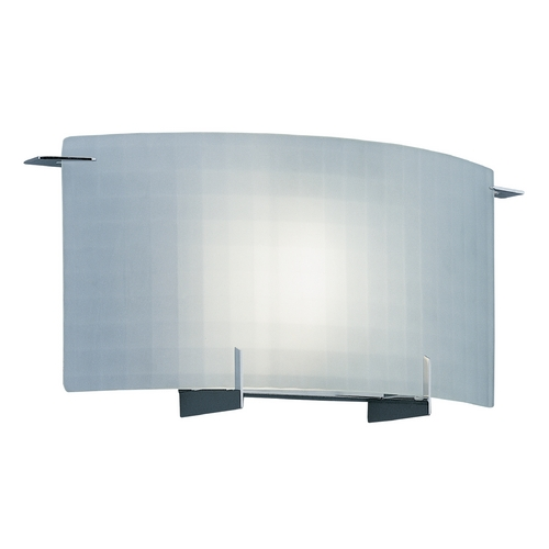 Designers Fountain Lighting Modern Sconce Wall Light with White Glass in Chrome Finish 6040-CH