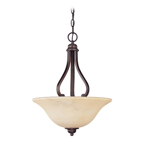 Nuvo Lighting Pendant Light with Beige / Cream Glass in Copper Espresso Finish 60/1409