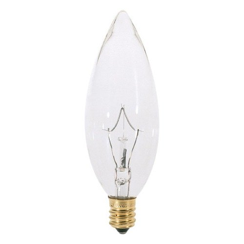 Satco Lighting Incandescent Flame Light Bulb Candelabra Base Dimmable S3784