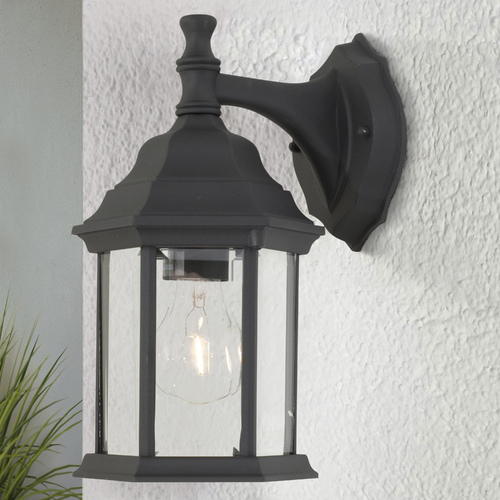Design Classics Lighting 12-1/4-Inch Outdoor Wall Light 9204 BK