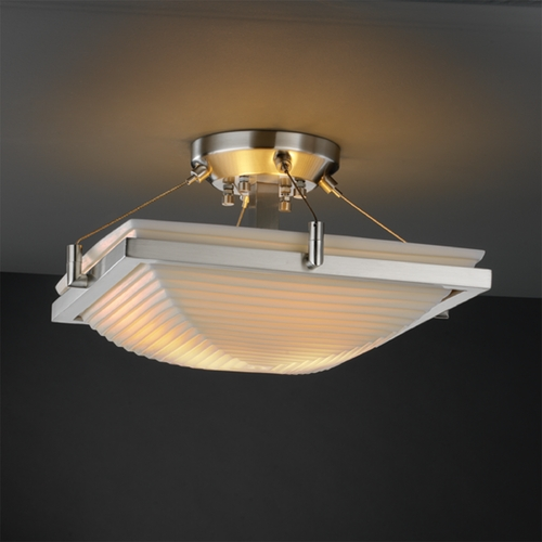 Justice Design Group Justice Design Group Porcelina Collection Semi-Flushmount Light PNA-9780-25-SAWT-NCKL