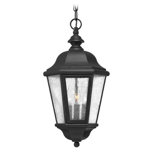 Hinkley Lighting Outdoor Hanging Light with Clear Glass in Black Finish 1672BK