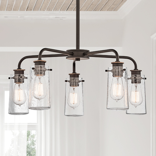 Kichler Lighting Kichler Chandelier with Clear Glass in Olde Bronze Finish 43058OZ