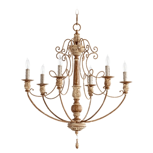 Quorum Lighting Quorum Lighting Salento French Umber Chandelier 6106-6-94