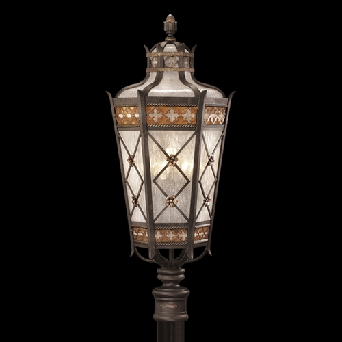 Fine Art Lamps Fine Art Lamps Chateau Outdoor Umber Patina with Gold Accents Post Lighting 541680ST