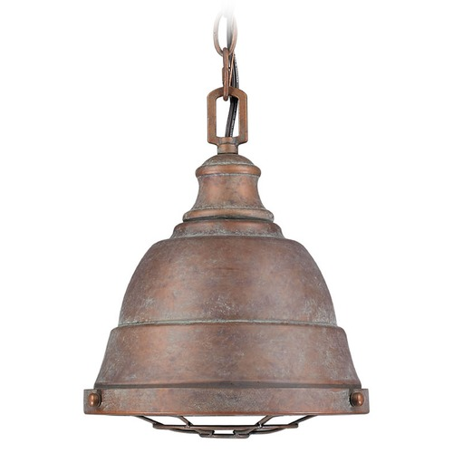 Golden Lighting Golden Lighting Bartlett Copper Patina Mini-Pendant Light 7312-S CP
