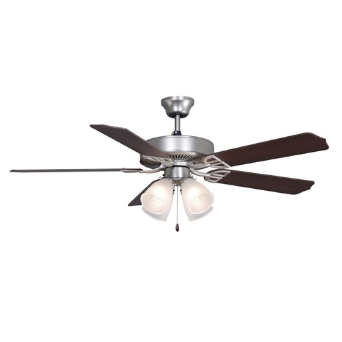 Fanimation Fans Fanimation Fans Aire Decor Satin Nickel Ceiling Fan with Light BP210SN1