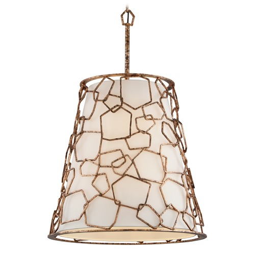 Troy Lighting Troy Lighting Coda Antique Copper Leaf Pendant Light with Empire Shade F5468