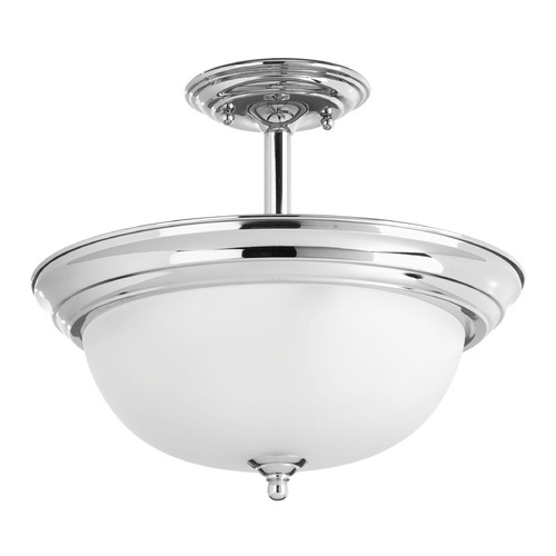 Progress Lighting Progress Lighting Dome Glass Polished Chrome Semi-Flushmount Light P3927-15ET