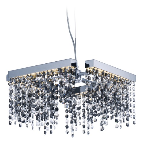 ET2 Lighting Midnight Shower Polished Chrome LED Pendant Light E23094-138PC