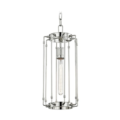Hudson Valley Lighting Hudson Valley Lighting Hyde Park Polished Nickel Mini-Pendant Light 9710-PN