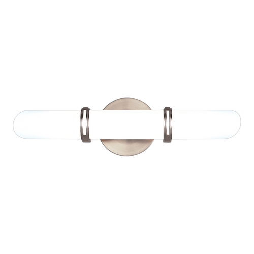Hudson Valley Lighting Brighton Satin Nickel Bathroom Light - Vertical or Horizontal Mounting 3602-SN