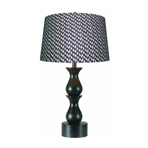 Kenroy Home Lighting Table Lamp with Brown Shade in Oil Rubbed Bronze Finish 10019ORB