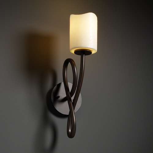 Justice Design Group Justice Design Group Candlearia Collection Sconce CNDL-8911-14-CREM-DBRZ