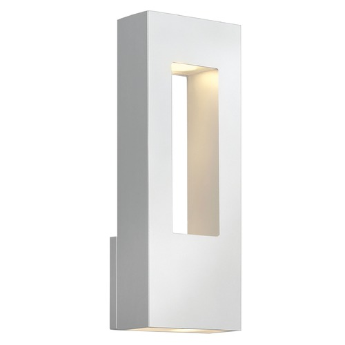 Hinkley Lighting Modern Outdoor Wall Light with Etched in Satin White Finish 1648SW