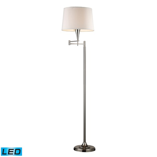 Dimond Lighting Dimond Lighting Polished Chrome LED Swing Arm Lamp with Empire Shade 10109/1-LED